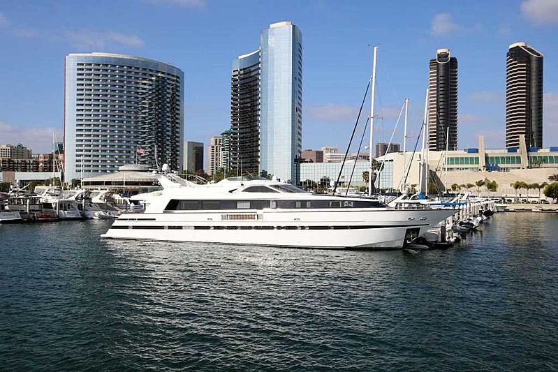 Amadeus yacht in San Diego marina