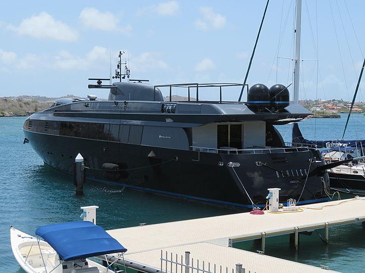 Blue Ice yacht at Santa Barbara Curaçao