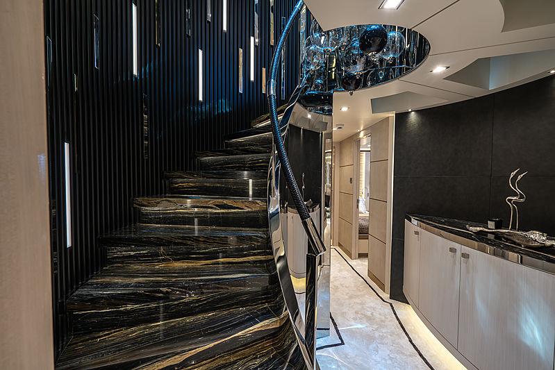Lilium yacht by Bilgin Yachts staircase