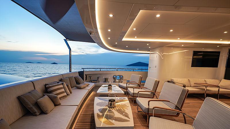 Lilium yacht by Bilgin Yachts aft deck