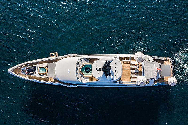 Lilium yacht by Bilgin Yachts aerial