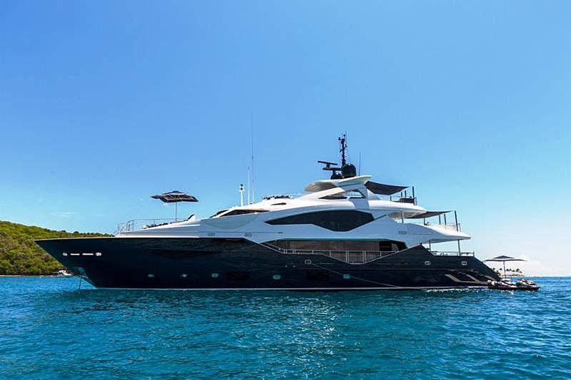 Take 5 yacht at anchor