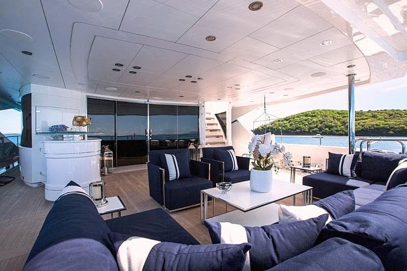 Take 5 yacht aft deck