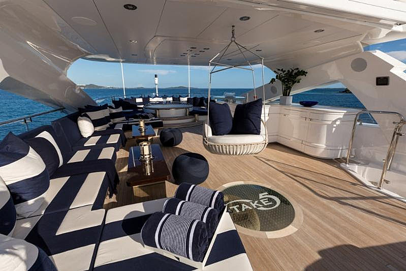 Take 5 yacht sundeck