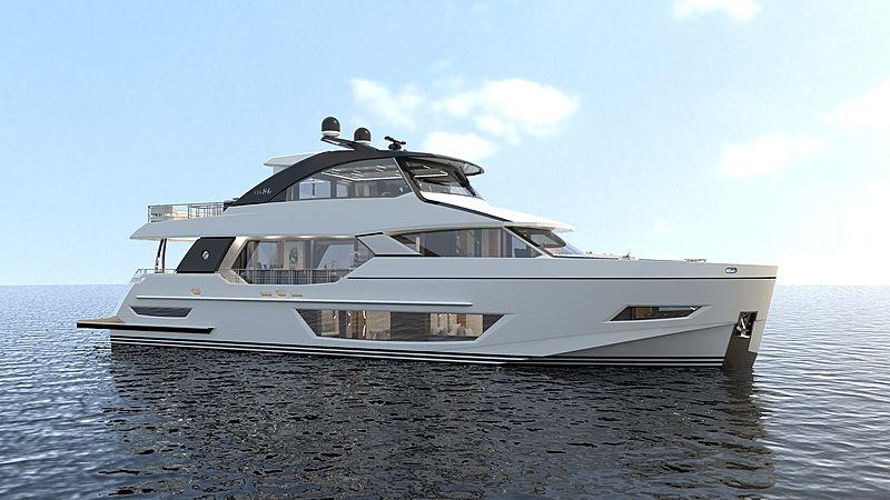 Ocean Alexander 84R01 exterior rendering