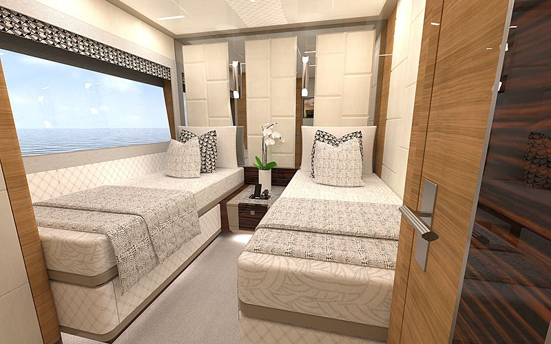 Ocean Alexander 84R01 interior rendering