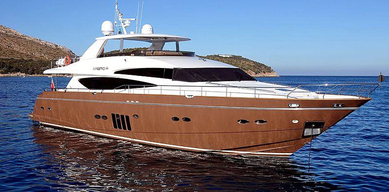 Maestro of Gibraltar yacht at anchor