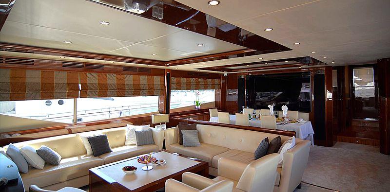 Maestro of Gibraltar yacht saloon