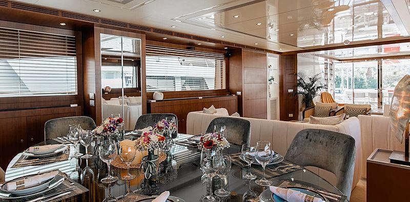 Babousha yacht dining table