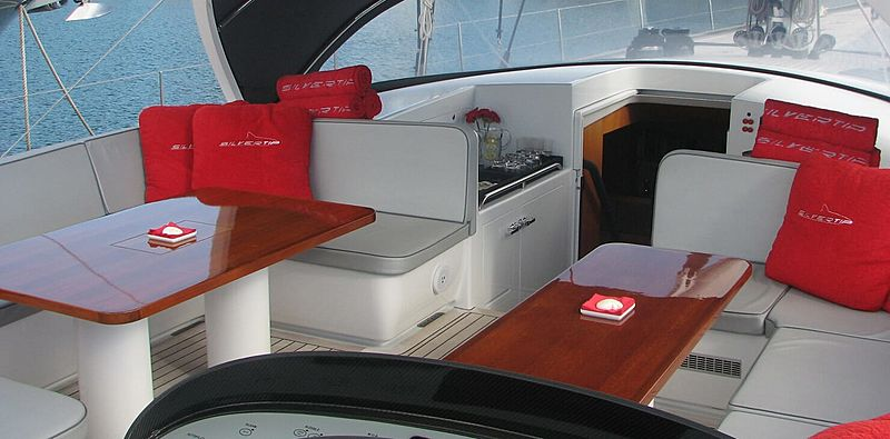 Silvertip B yacht cockpit