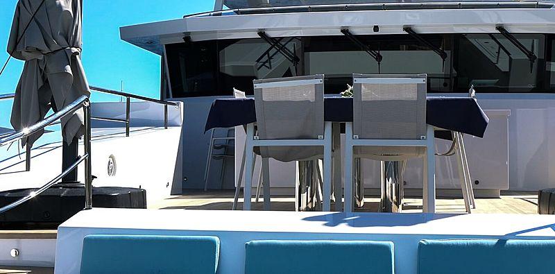 Serenitas yacht foredeck