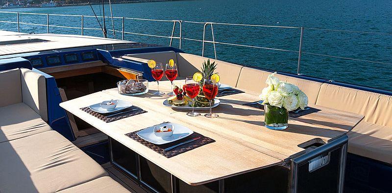 Inti Cube yacht deck