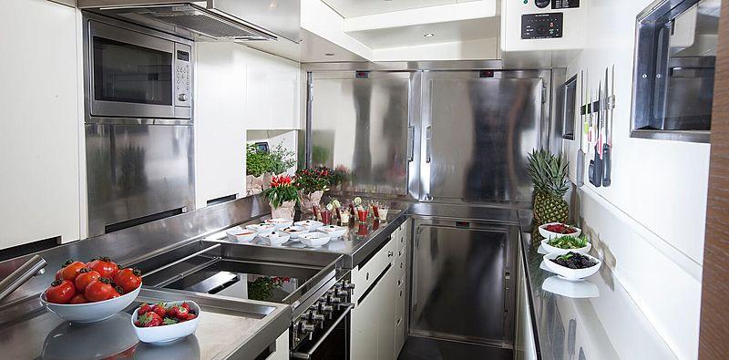 Inti Cube yacht kitchen
