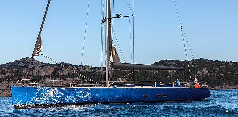 Inti Cube yacht anchored