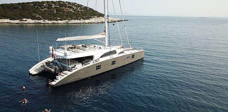 Ipharra yacht at anchor