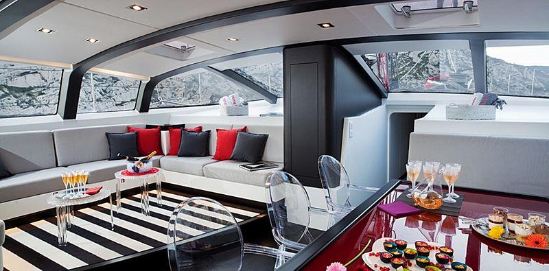 Nomad IV yacht saloon