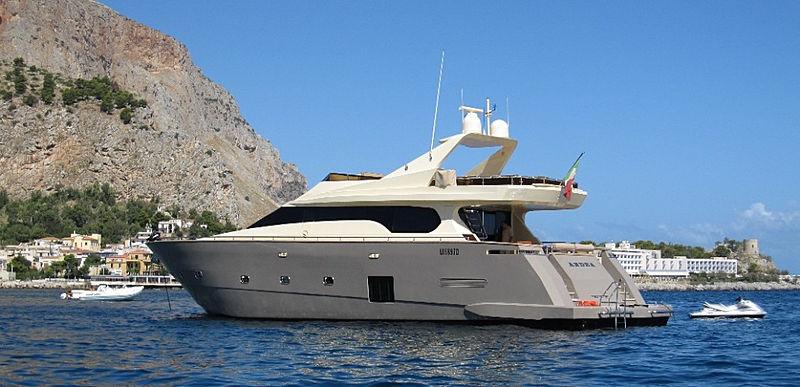 Andea yacht anchored