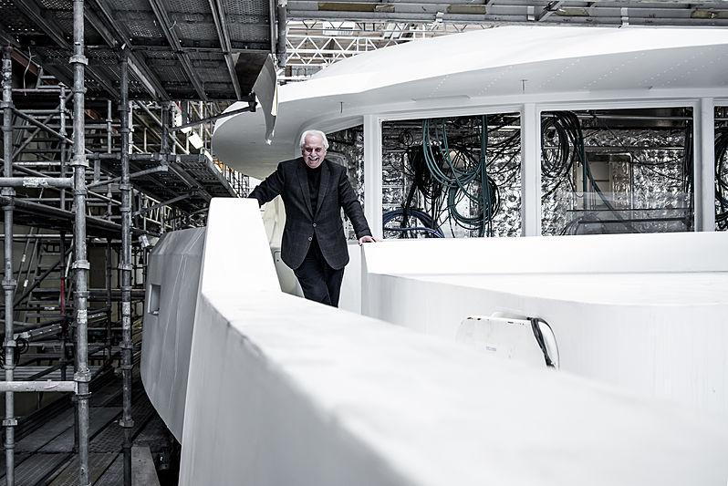 Tim Heywood at the Amels shipyard