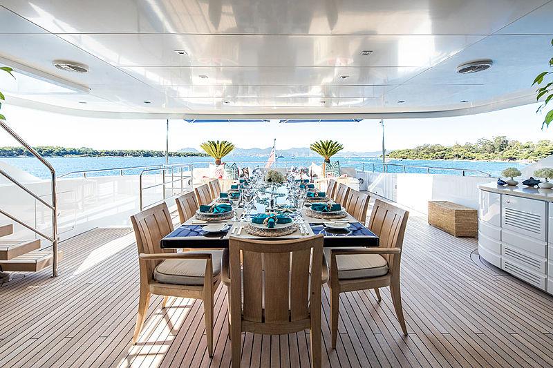 Clicia yacht aft deck