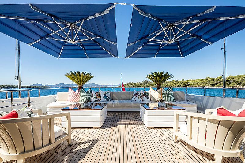Clicia yacht sundeck