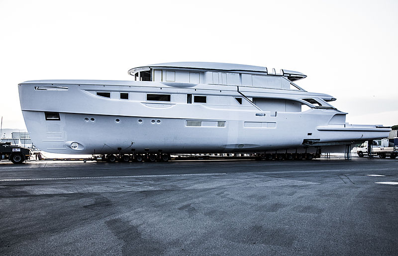Benetti Oasis 40M BO101 yacht in build in Livorno
