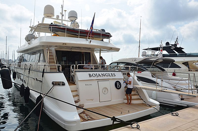 Bojangles yacht in Cannes