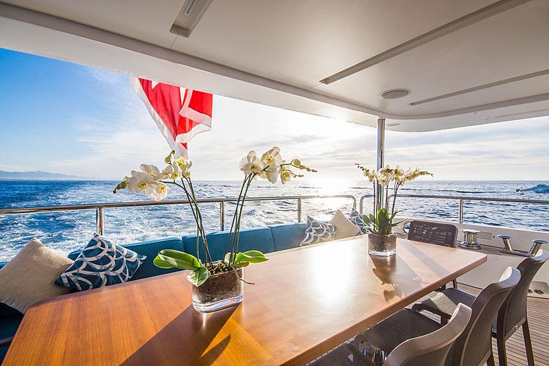 Lulu yacht aft deck