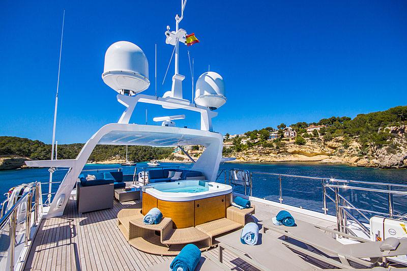 Lulu yacht sundeck