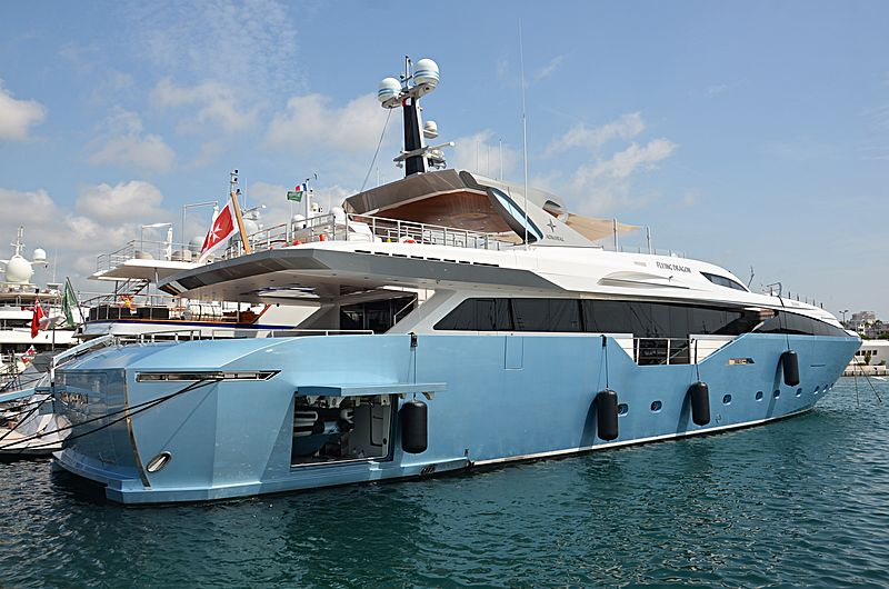 Flying Dragon yacht in Port Canto