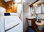 Baiurdo VI yacht cabin and bathroom
