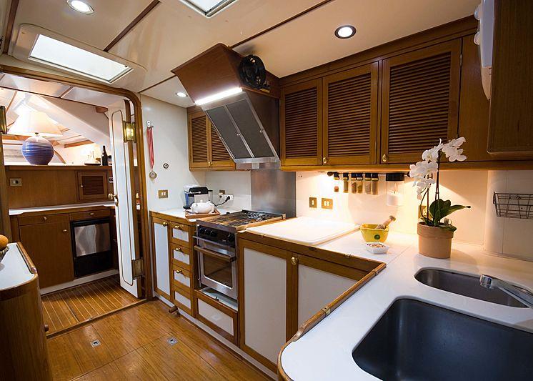 Baiurdo VI yacht kitchen