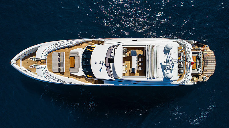 Chimera yacht by Sunseeker aerial