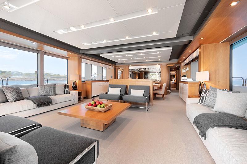 Chimera yacht by Sunseeker saloon