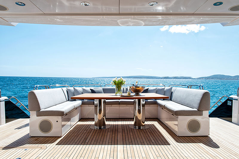 Chimera yacht by Sunseeker aft deck
