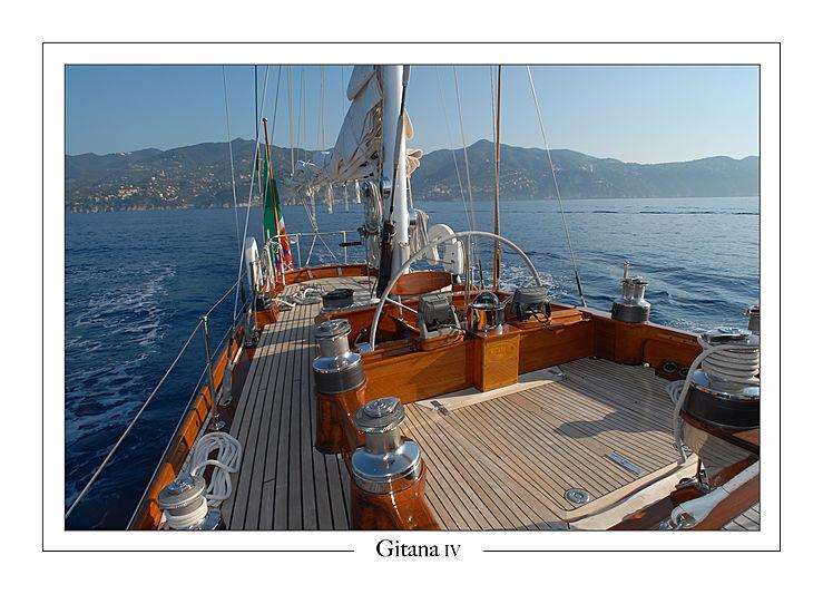 Gitana IV yacht deck