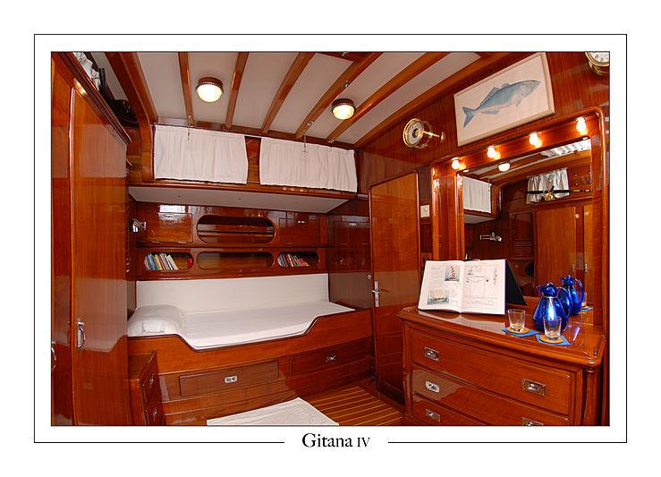 Gitana IV yacht cabin