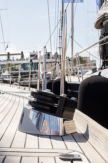 Early Purple II yacht deck