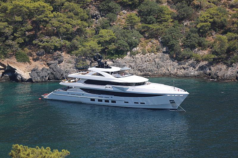 Baba's yacht anchored