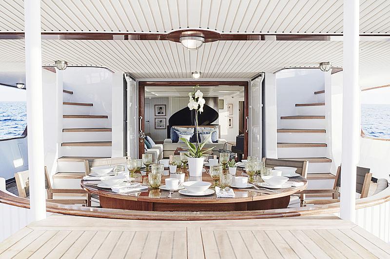 Menorca yacht aft deck