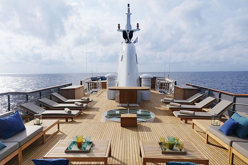 Menorca yacht sundeck