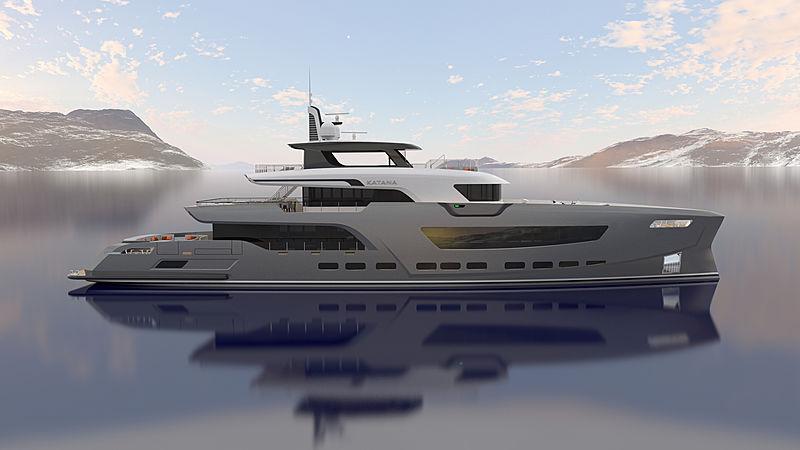 Katana yacht concept exterior design