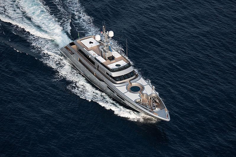 Regina di'Italia II yacht aerial