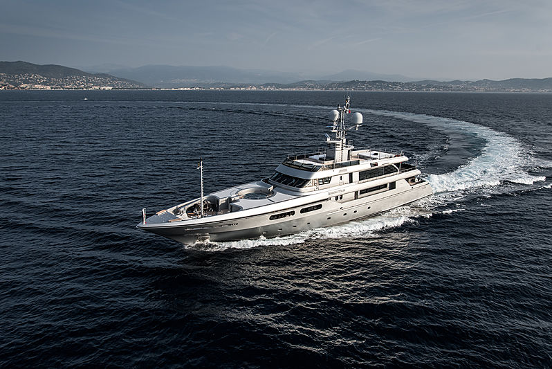Regina di'Italia II yacht cruising