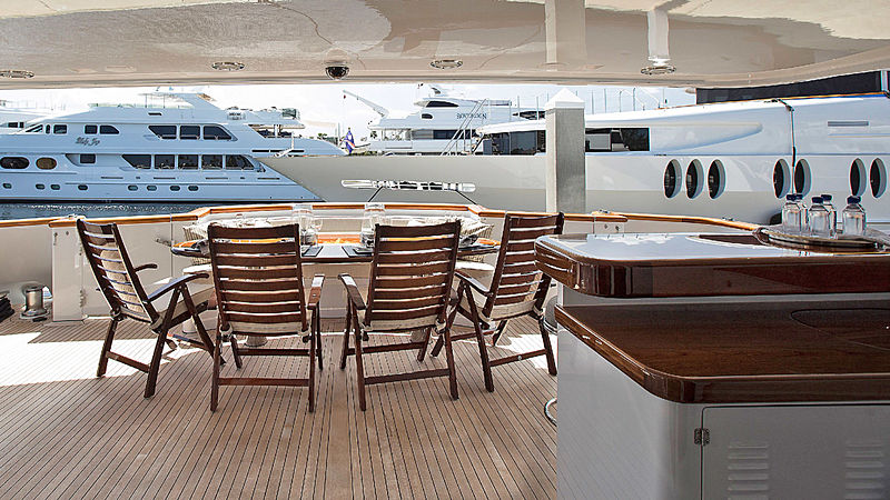 Life of Reilley yacht aft deck