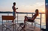 Sunrays yacht balcony