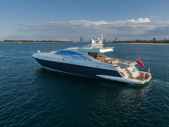 Elysium 3 yacht at anchor