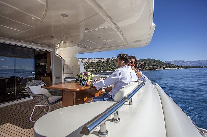 Yoyita yacht aft deck