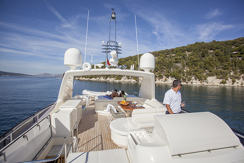 Yoyita yacht sundeck
