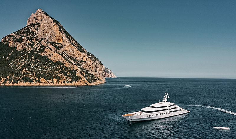 IJE yacht by Benetti off Tavolara, Sardinia