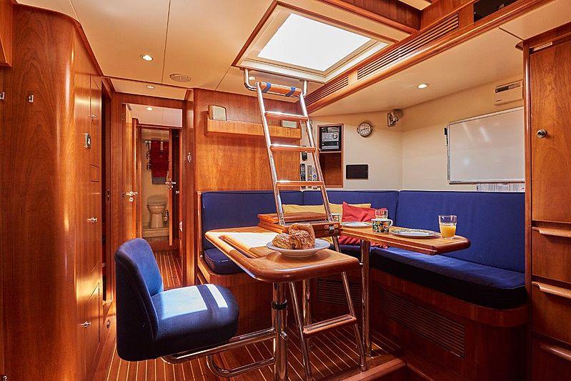 Anamcara yacht crew mess